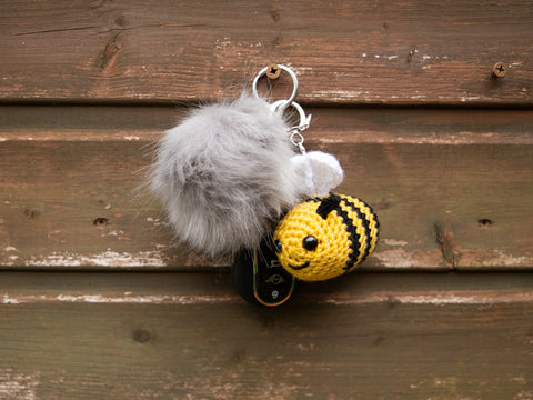 Bertie the Bee Keyring Crochet Kit and Pattern in Deramores Yarn
