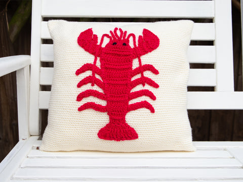 Lobster Cushion Crochet Kit in Deramores Studio DK Yarn