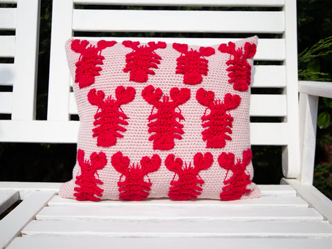 Mini Lobster Cushion Crochet Kit in Deramores Studio DK Yarn