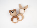Woodland Animals Baby Rattles Knitting Kit & Pattern in Deramores Yarn