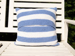 'Pin Striped Cushion Knitting Kit and Pattern in Deramores Yarn