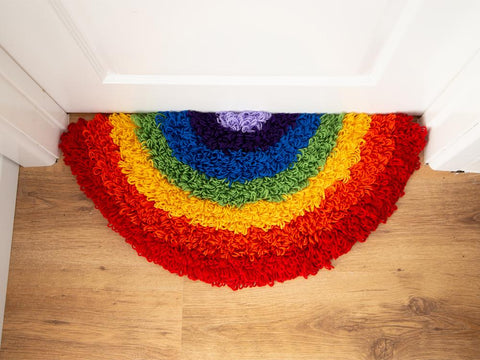 Rainbow Rug Crochet Kit and Pattern in Deramores Yarn