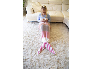 Mermaid Tail Blanket Knitting Kit and Pattern in Deramores Yarn