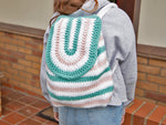 Pastel Backpack Crochet Kit and Pattern in Deramores Yarn