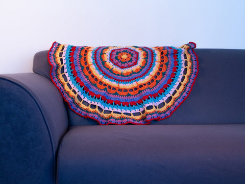 Mandala Blanket Crochet Kit and Pattern