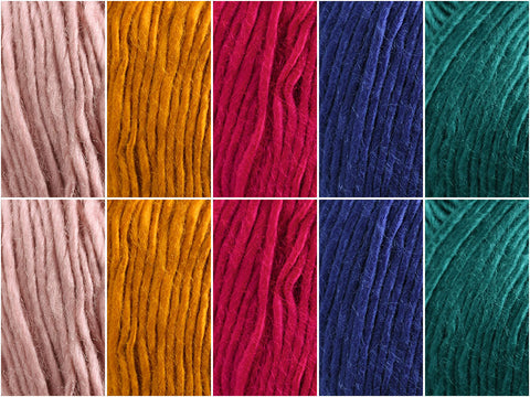 Mandarin Colour Pack in Cygnet Yarns Boho Spirit Solids
