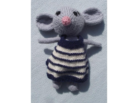 Melodie the French Mouse by Cilla Webb in King Cole Merino Blend DK