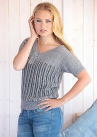 Top Knitted in Scheepjes Stone Washed (Model C)