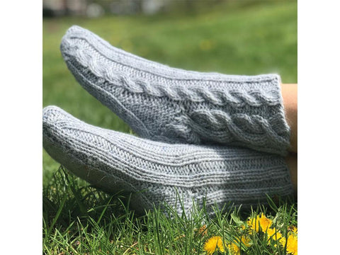 Moraine Socks by Joan Forgione in Rowan Felted Tweed Aran
