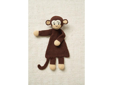 Monkey Flat Toy Crochet Kit and Pattern in Patons Yarn