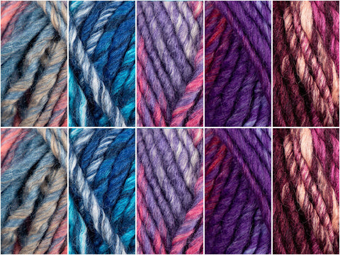 Nebula Colour Pack in King Cole Orbit Super Chunky