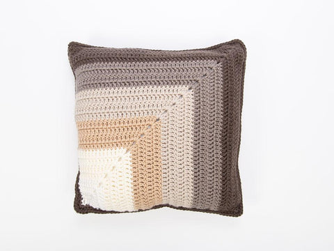 Ombre Mitre Square Cushion Cover Crochet Kit and Pattern
