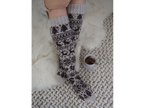 Novita 2019 Christmas Socks Knit-Along by Sari Nordlund in Novita Nalle