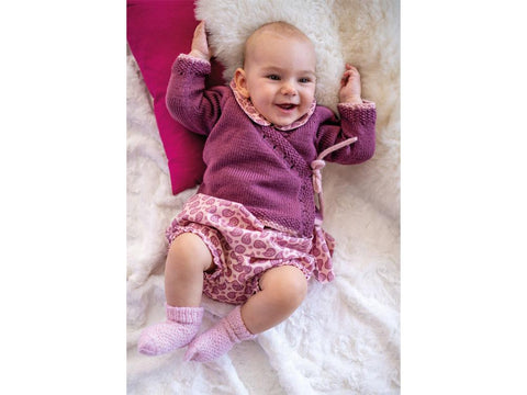 Wrap Cardigan in Patons Baby Cotton Bamboo
