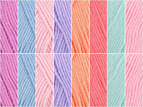 Pastel Puffs Colour Pack in Deramores Studio Baby Soft DK