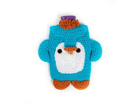 Peter Penguin Hot Water Bottle Cosy Crochet Kit and Pattern in King Cole Yarn