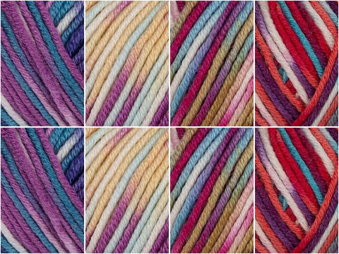 Pick 'n' Mix Colour Pack in Sublime Baby Cashmere Merino Silk DK Prints