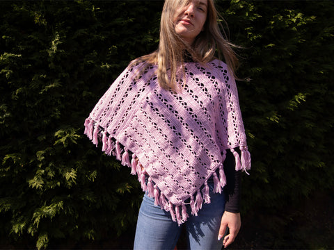Summer Chill Poncho Crochet Kit and Pattern in Deramores Yarn