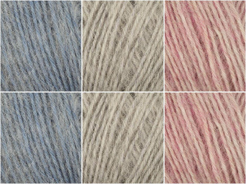 Powder Smoke Colour Pack in Regia Premium Alpaca Soft