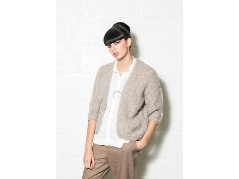 Sucre Cardigan in Rowan Brushed Fleece
