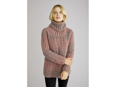 Lune Turtleneck Sweater in Rowan Brushed Fleece