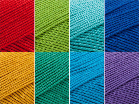 Rainbow Brights Colour Pack in Patons 100% Cotton 4Ply
