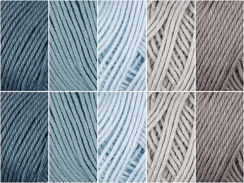 Rainwashed Colour Pack in Sirdar Snuggly 100% Cotton