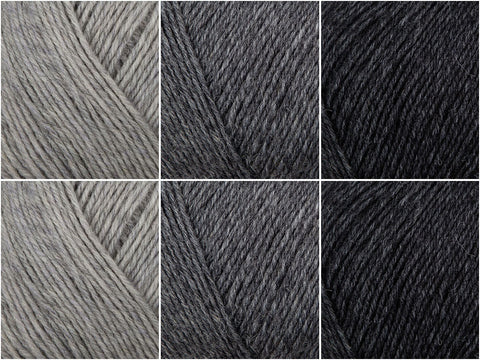 Greyscale Colour Pack in Regia 4 Ply Uni