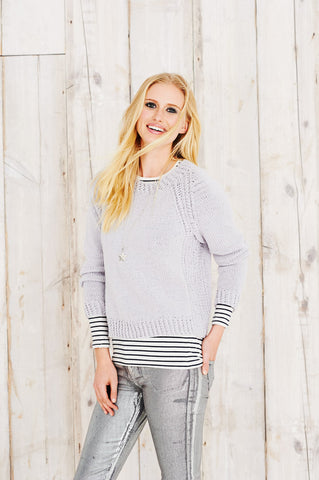 Womens Sweater and Cardigan in Stylecraft Jeanie Aran (9493)