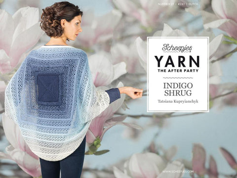YARN The After Party 27 - Crochet Kit and Pattern Indigo Shrug