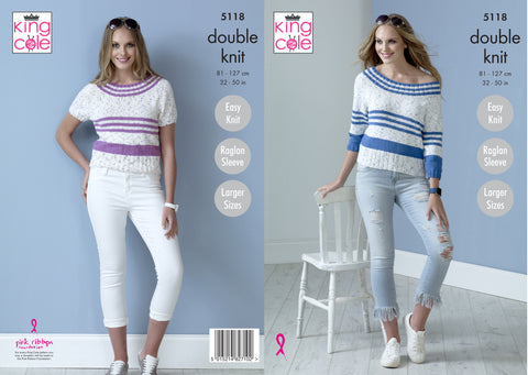 Tops in King Cole Cottonsoft Candy DK & Cottonsoft DK (5118K)