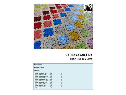 Automne Blanket Crochet Kit and Pattern in Cygnet Yarn