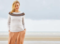 Sandstone by Charlotte Johnson in Yarn Stories Fine Merino DK