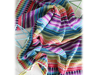 Skittles Blanket Crochet Kit and Pattern in Scheepjes Yarn