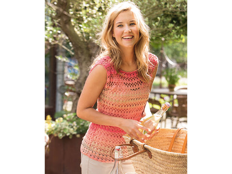 Lacy Top Crochet Kit and Pattern in Patons Yarn