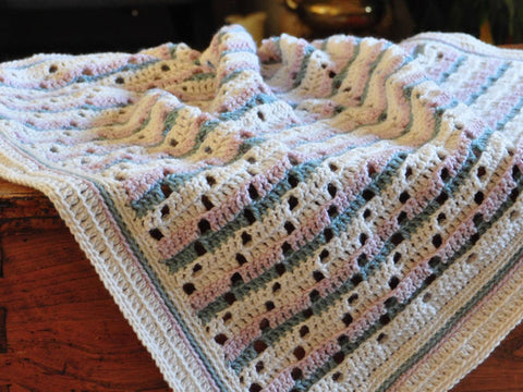 Soft Steps Blanket by HanJan Crochet in Stylecraft Life DK
