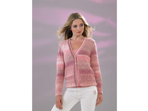 Ladies Cardigan in James C. Brett Northern Lights (JB513)