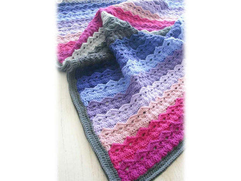 Royal Icing Blanket Crochet Kit and Pattern in Scheepjes Yarn