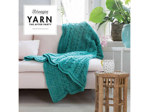 YARN The After Party 24 - Crochet Kit and Pattern Popcorn & Cables Blanket