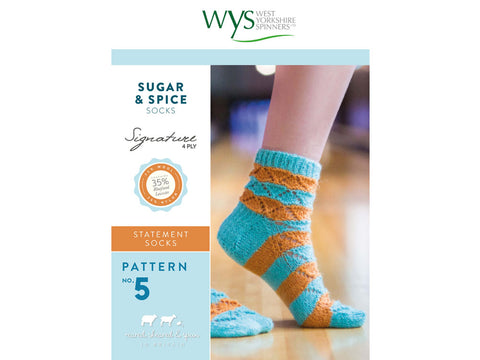 Sugar & Spice Socks in West Yorkshire Spinners Signature 4 Ply - Pattern No. 5