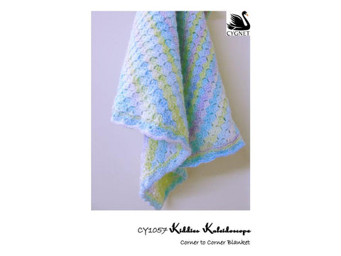 Corner to Corner Blanket in Cygnet Yarns Kiddies Kaleidoscope DK