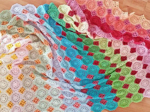 Lightfall Blanket Crochet Kit and Pattern in Scheepjes Yarn