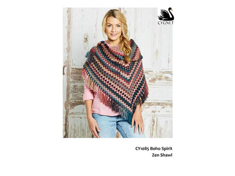 Zen Shawl Crochet Kit and Pattern in Cygnet Yarn