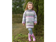 Girls Sweater in James C. Brett Marble Chunky (JB499)