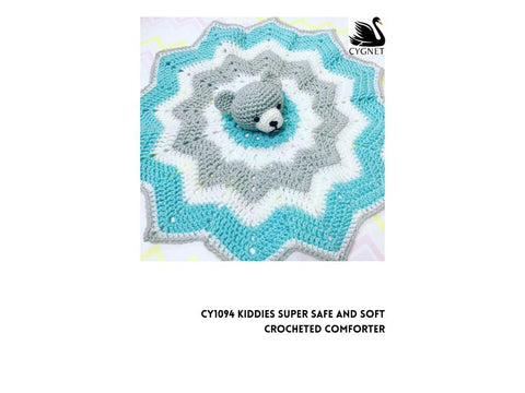 Crocheted Comforter Crochet Kit and Pattern in Cygnet Yarn