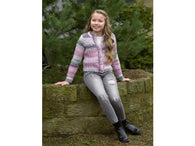 Girls Cardigan in James C. Brett Marble Chunky (JB500)
