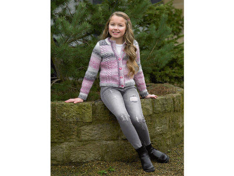 fca50af6b1e8 Girls Cardigan in James C. Brett Marble Chunky (JB500) – Deramores US