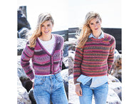 Fisherman's Rib Sweater and Cardigan in Stylecraft Life Heritage (9569)