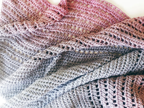 Ombre Shawl in Scheepjes Whirl by Annaboo's House - Yarn and Pattern