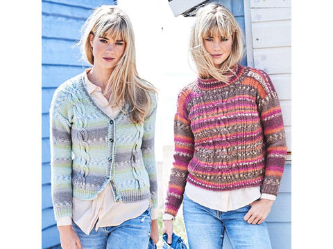 Cabled Sweater and Cardigan in Stylecraft Life Heritage (9570)